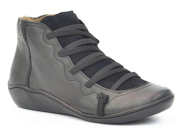 Bota Cano Baixo Wuell Casual Shoes - Classic - 75110 - preto