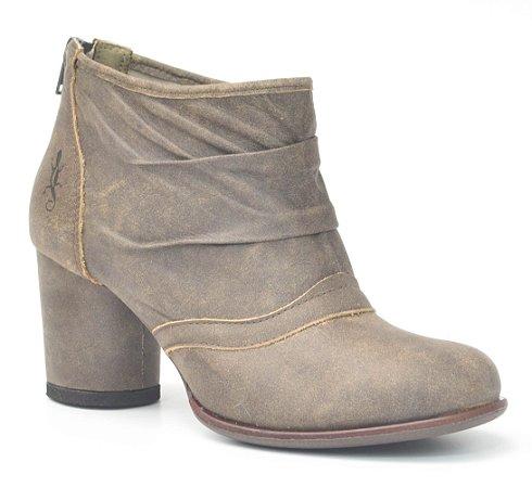 Bota de Salto Médio Wuell Casual Shoes - Lincancabur- YA 0900 - café