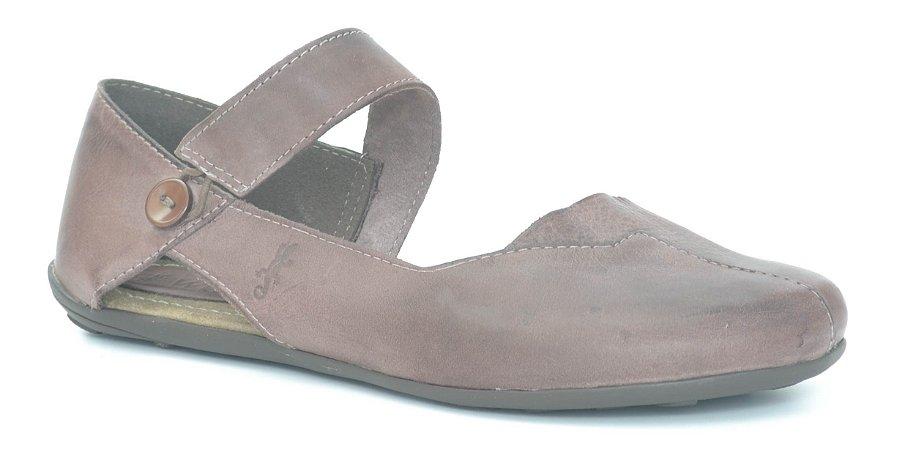 Sapato Feminino em couro Wuell Casual Shoes - Lavras Novas VN - 026620- stone chocolate