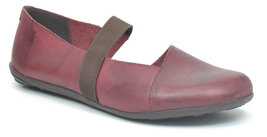 Sapato Feminino em couro Wuell Casual Shoes - SISA - 028620 - carmim