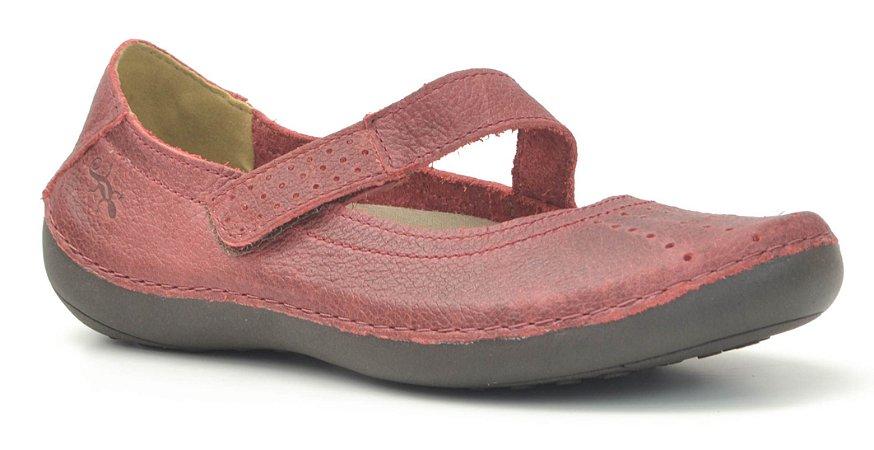 Sapato Feminino em Couro Wuell Casual Shoes - Valle del Arcoiris - TI 804 - pimenta