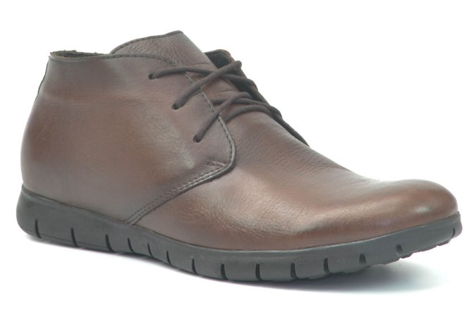 Bota Masculina em Couro Wuell Casual Shoes - Zapaleri - TK 00074 - café