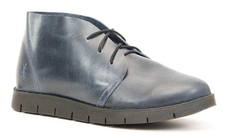 Bota Feminina em Couro baixa Wuell Casual Shoes - Quitor - CB 205 - marinho