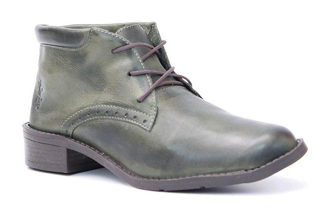 Bota Feminina em Couro Wuell Casual Shoes - Valle de la Luna - BZ 4850 - verde militar