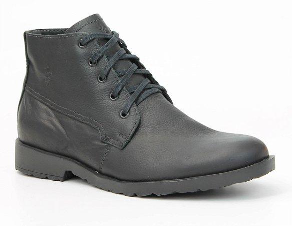 Bota Masculina em Couro Wuell Casual Shoes - Zapaleri - KKT 07 - preta
