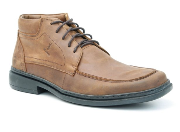 Bota Masculina em Couro Wuell Casual Shoes - Zapaleri - PTS 70527- mustang