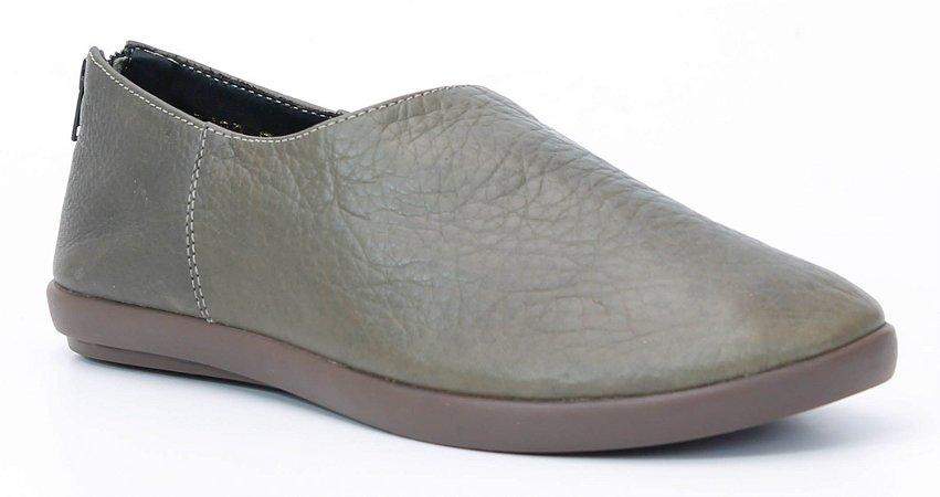 Sapato feminino em couro Wuell Casual Shoes - Catas Altas - NMB 0278 - musgo