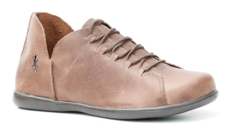 Sapato feminino em couro Wuell Casual Shoes - Ouro Preto - VC 33020 - telha