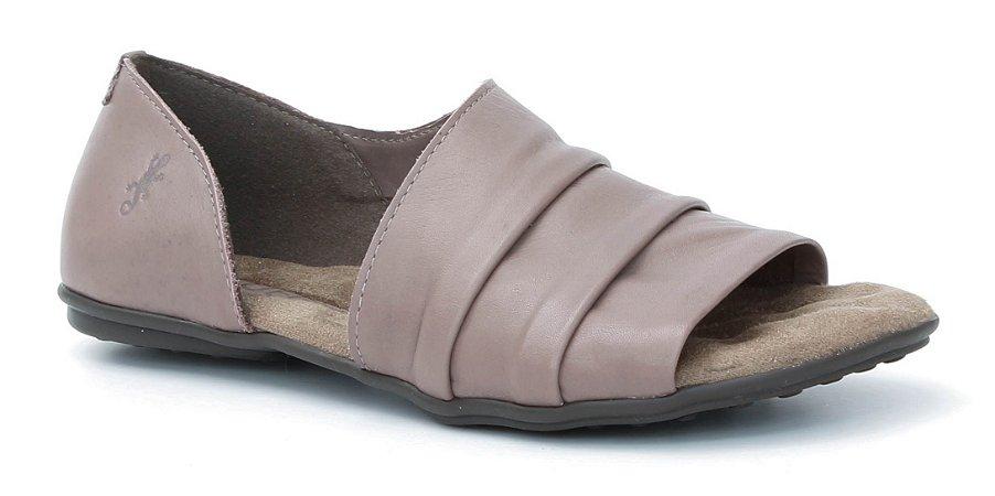 Sandália feminina em couro Wuell Casual Shoes - Lavras Novas  - VN 264232 - chocolate