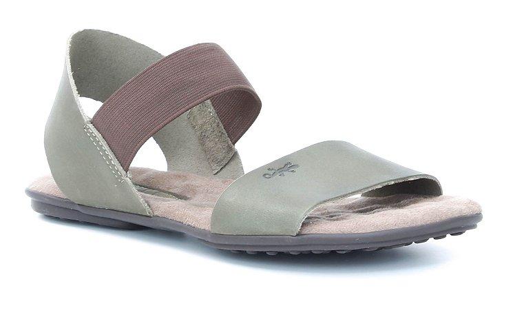 Sandália Feminina em couro Wuell Casual Shoes - Lavras Novas  - VN 212232 - folha