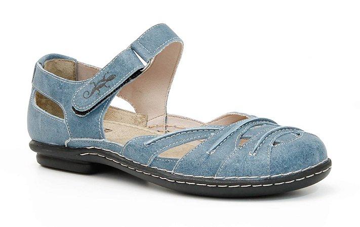 Sapato Feminino em couro Wuell Casual Shoes - Tiradentes - MA 6501 - azul