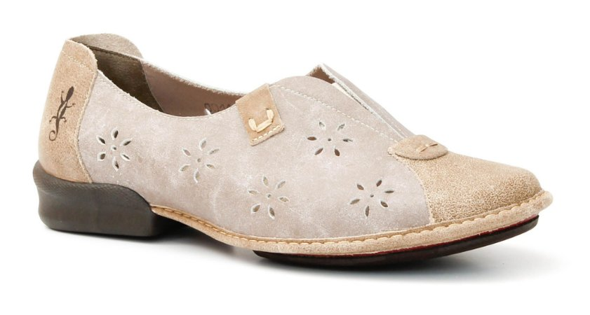 Sapato Feminino em couro Wuell Casual Shoes - Tiradentes - CQ 1400 - areia