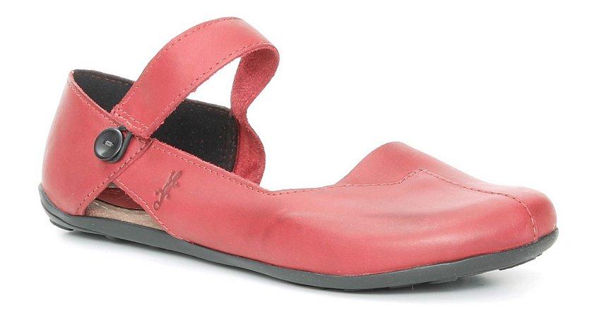 Sapato Feminino em couro Wuell Casual Shoes - SISA- 026620 - vermelho
