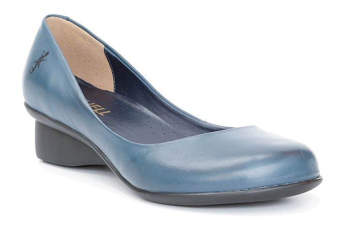 Sapato feminino em couro Wuell Casual Shoes - Caeté - NR 004863 - marinho