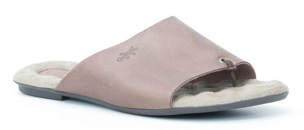 Sandália Rasteira Feminina em couro Wuell Casual Shoes - Lavras Novas  - VN 226202 - chocolate