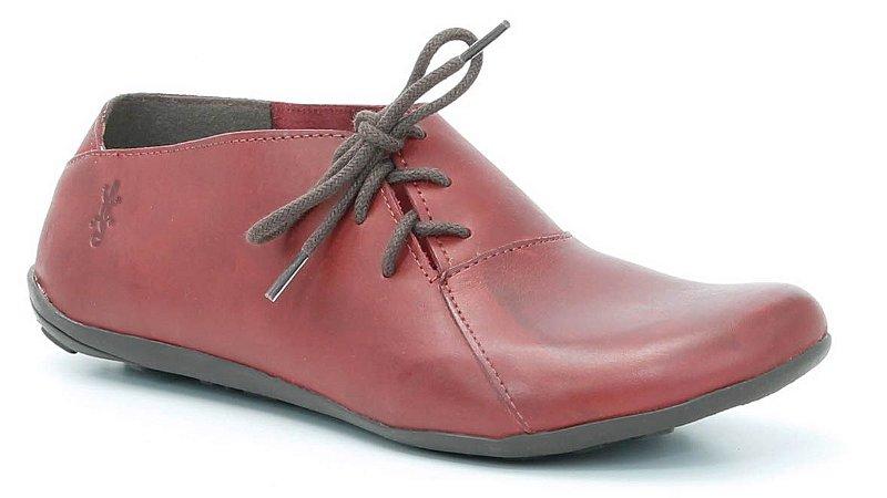 Sapato Feminino em couro Wuell Casual Shoes - VN 064621 - vermelho