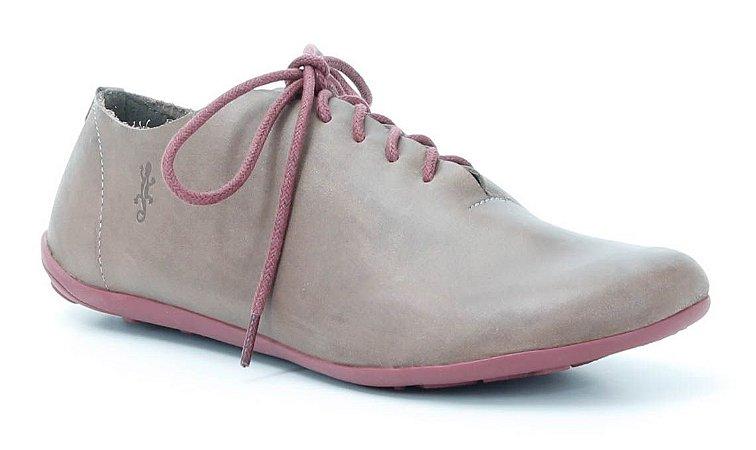 Sapato Feminino em couro Wuell Casual Shoes - SISA 065621 - marrom e bordô