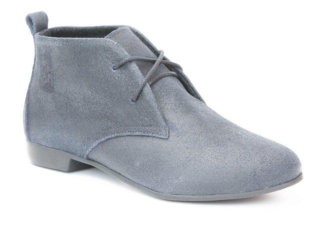 Bota Feminina cano curto em couro Wuell Casual Shoes - SAMI 0029 -marinho