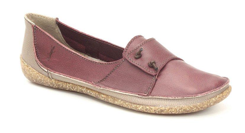 Sapatilha Feminina em couro Wuell Casual Shoes  - YORI 3475 -vermelha e areia