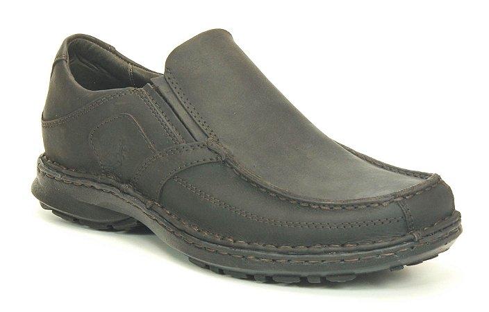 Sapato masculino em couro Wuell Casual Shoes - SUP 08 - marrom