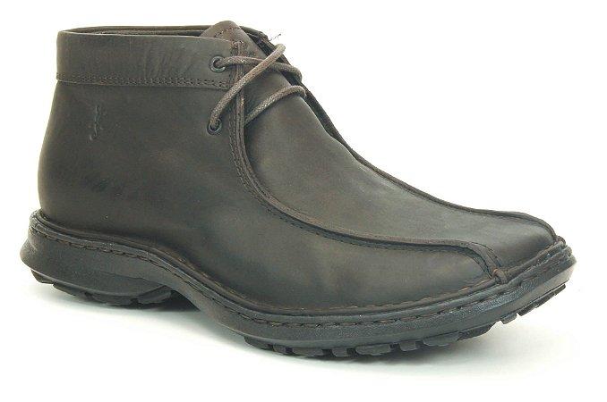 Bota masculina em couro Wuell Casual Shoes - SUP 07 - marrom