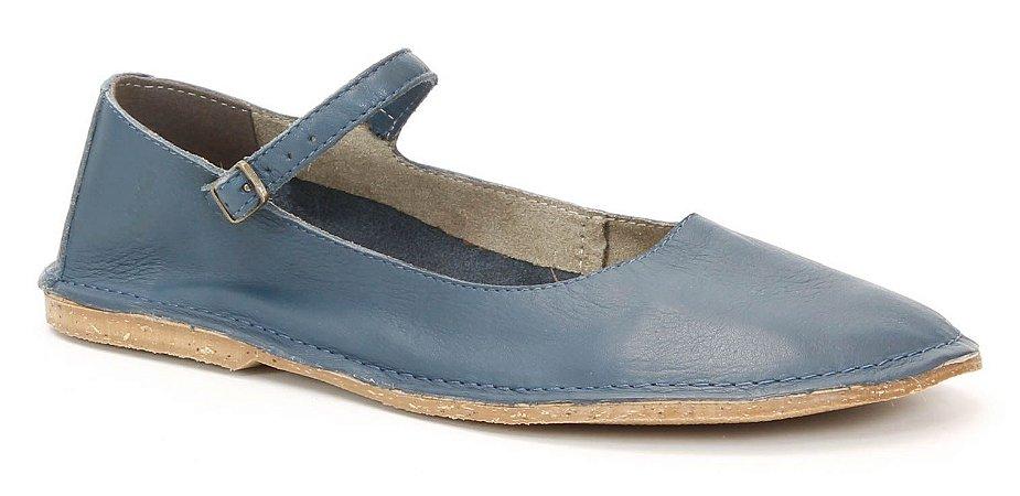 Sapatilha feminina em couro Wuell Casual Shoes - SISA -  003600 - azul