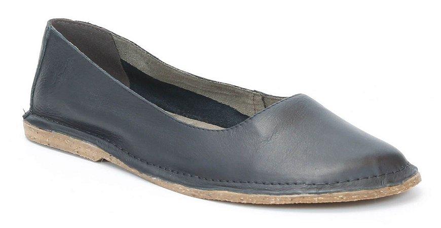 Sapatilha feminina em couro Wuell Casual Shoes - SISA - 001600 - preta