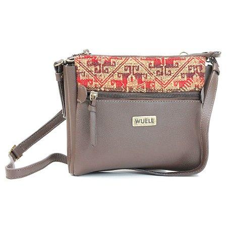Bolsa em Couro Feminina Wuell Casual Shoes - Killa - 0670 - marrom