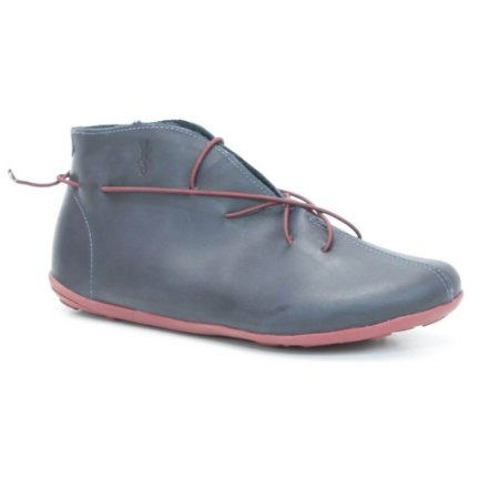 Bota Feminina em Couro Wuell Casual Shoes - SISA 085721 - marinho e bordô