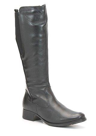 Bota Feminina Cano Alto em Couro Wuell Casual Shoes - SHAYA 010914 - preto