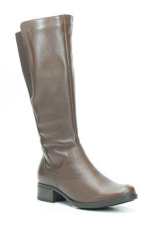 Bota Feminina Cano Alto em Couro Wuell Casual Shoes - SHAYA 010914 - marrom