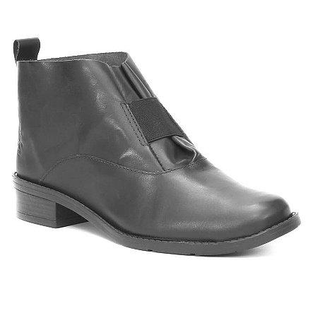 Bota Feminina de Couro  Wuell Casual Shoes - PACHA 5650 - preta
