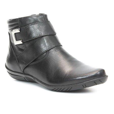 Bota Feminina em Couro Wuell Casual Shoes - Nuna - 4712 - preta