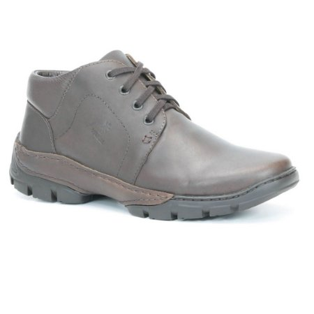 Bota Masculina em Couro Wuell Casual Shoes - Men -TPS - 42025 - marrom