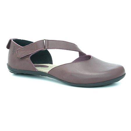 Sapatilha Feminina em couro Wuell Casual Shoes - SISA - VN 012620 - bordô