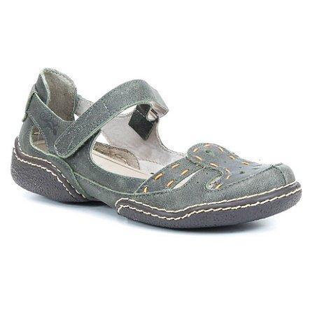 Sapato Feminina em couro Wuell Casual Shoes - Cris - LC 1800 -  verde