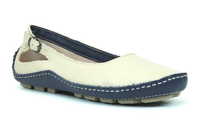 Sapatilha Feminina Wuell Casual Shoes - Classic - Madri 606 -  indigo/marfim