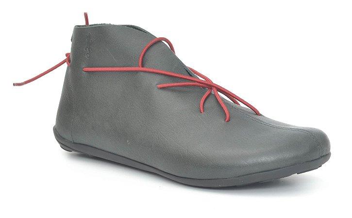 Bota Feminina em couro Wuell Casual Shoes - Miscanti 085721 - rústico preto