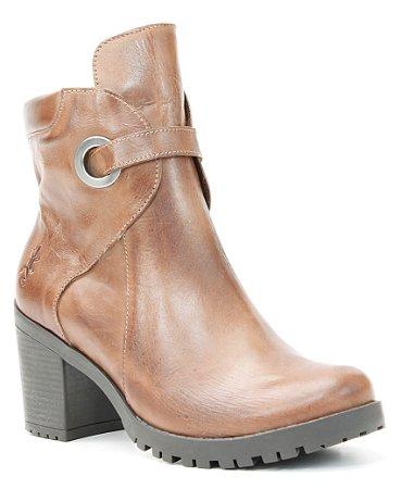 Bota salto Feminina em Couro Wuell Casual Shoes - BZ 2394 - marrom