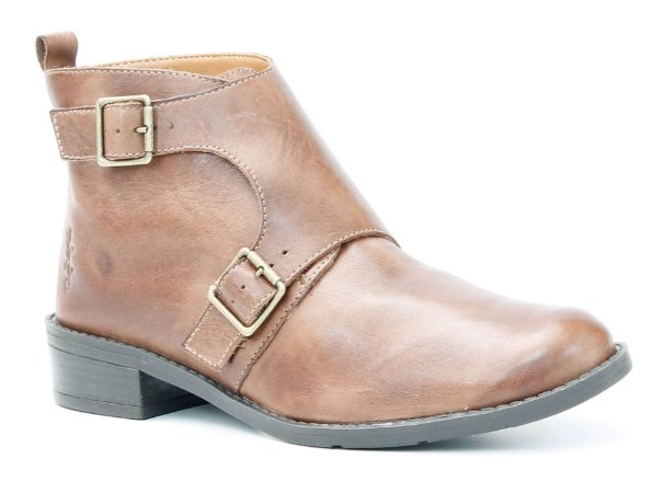 Bota Feminina em Couro Wuell Casual Shoes - BZ 6750 - marrom