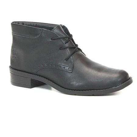 2400e42ec Bota Feminina cano baixo em Couro Wuell Casual Shoes - BZ 4850 - preta