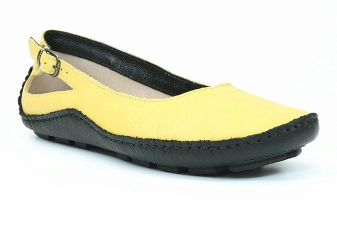 Sapatilha Feminina Wuell Casual Shoes - Classic - Madri 606 - preto e amarelo