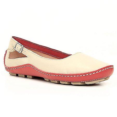 Sapatilha Feminina Wuell Casual Shoes - Classic - Madri 606 -  vermelho e marfim