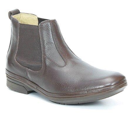 Bota Masculina em Couro Wuell Casual Shoes - Men - PTS 70930 - marrom