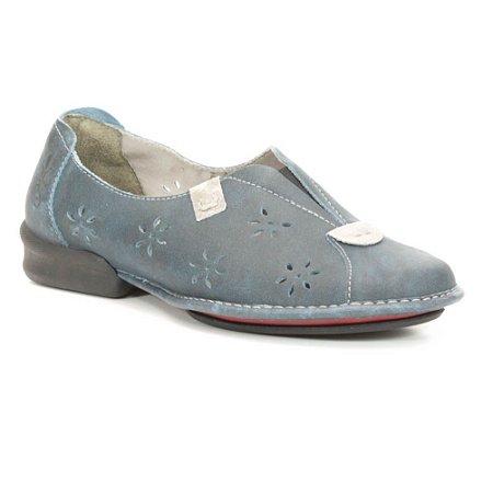 Sapato Feminino em couro Wuell Casual Shoes - Cris - CQ 1400 - azul