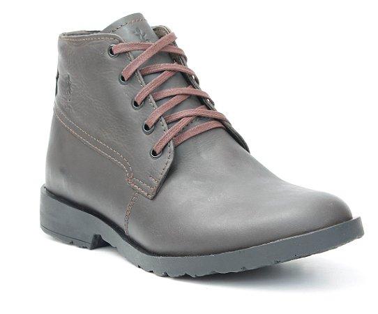 Bota Masculina em Couro Wuell Casual Shoes - MEN - KKT 07 -marrom