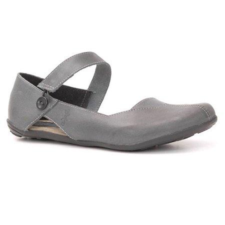 Sapatilha Feminina em couro Wuell Casual Shoes - Classic - VN 026620 - cinza