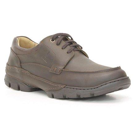 Sapato Masculino em couro Wuell Casual Shoes - TPS - 42725 - marrom