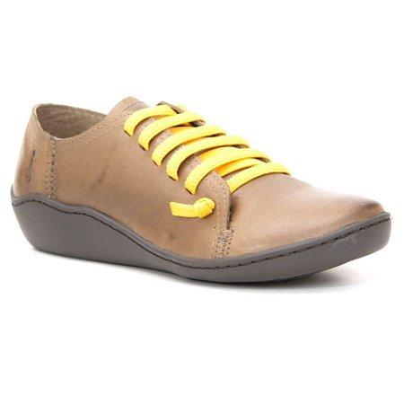 Sapato Feminino em Couro Natural Wuell Casual Shoes - PERITO MORENO - RO 75010 - marrom