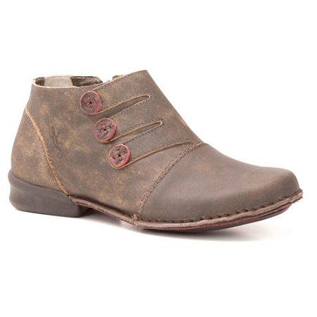 Bota Feminina em couro Wuell Casual Shoes - JVC 0800 - PUERTO NATALES - marrom stone